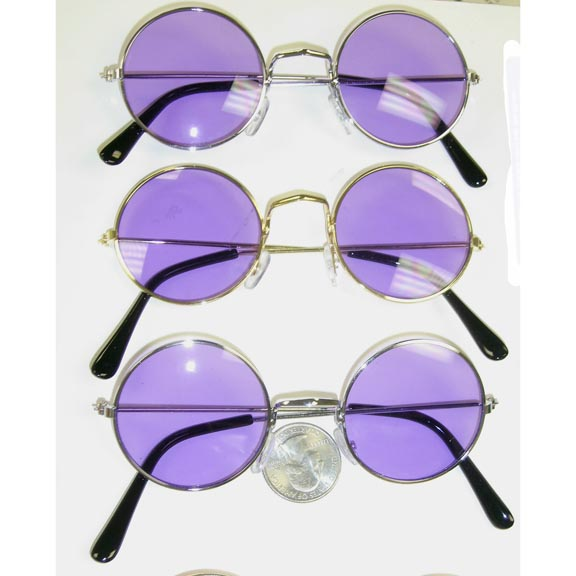 JOHN LENNON SUNGLASSES WITH PURPLE LENS