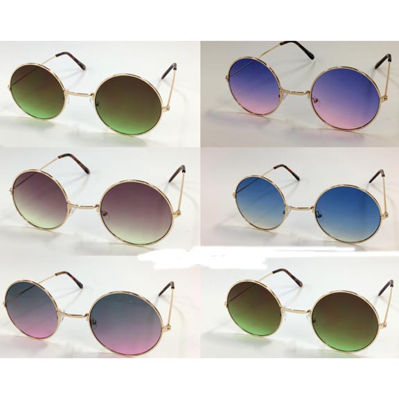 JOHN LENNON STYLE SUNGLASSES WITH OCEAN LENS