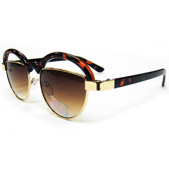 FUNKY SUNGLASSES METAL FRAME FRONT WITH CURVY TOP RIDGE