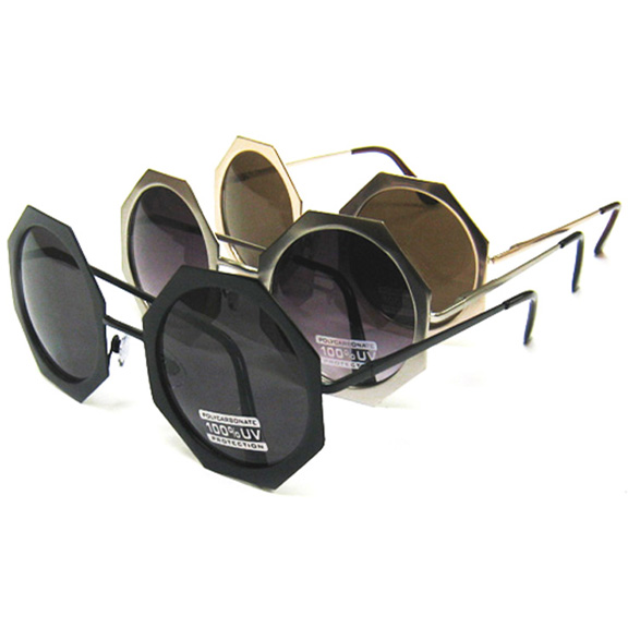 8 SIDED METAL FRAMES SUNGLASSES