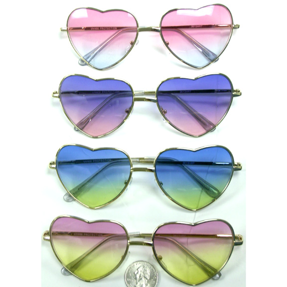 HEART SHAPE FRANES WITH COLOR FADING LENSES