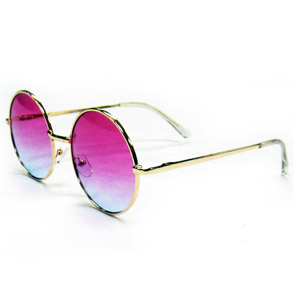 LENNON SIZE SUNGLASSES WITH COLORS FADING LENSES