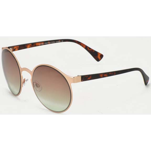 OCEAN LENS, METAL FRAMES ULTRA COOL ROUND SUNGLASSES