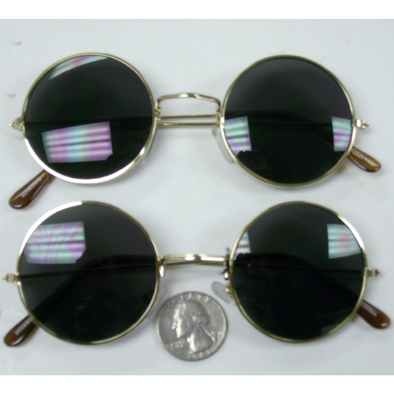 LENNON ROUND STYLE SUNGLASSES ALL GOLD FRAMES