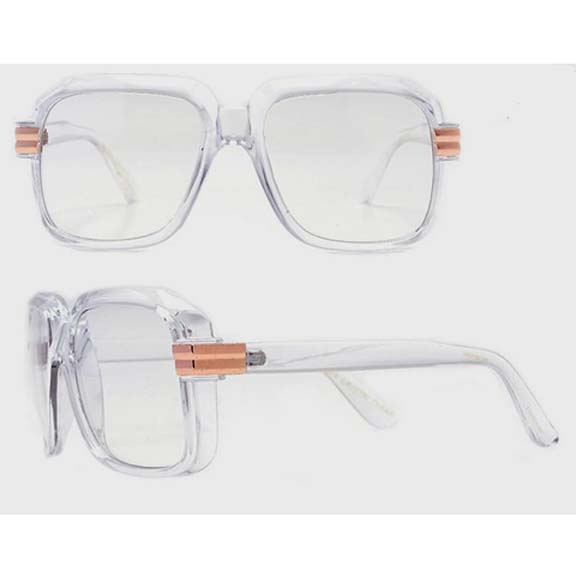 CAZAL STYLE CLEAR FRAMES, WITH CLEAR LENS, GOLD HINGE