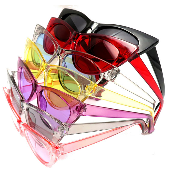 CAT SHAPE COOL COLOR FRAMES SUNGLASSES