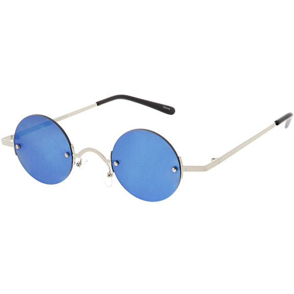 LENNON STYLE SUNGLASSES WITH A MORE INDUSTRIAL LOOK, REVO LENS