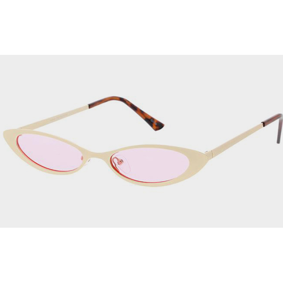 METAL CUTE FRAMES WITH ASSORTED COLOR LENS SUNGLASSES