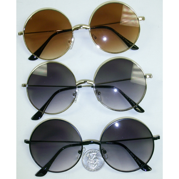 ROUND FRAMES  IN GOLD AND SILVER SUNGLASSES