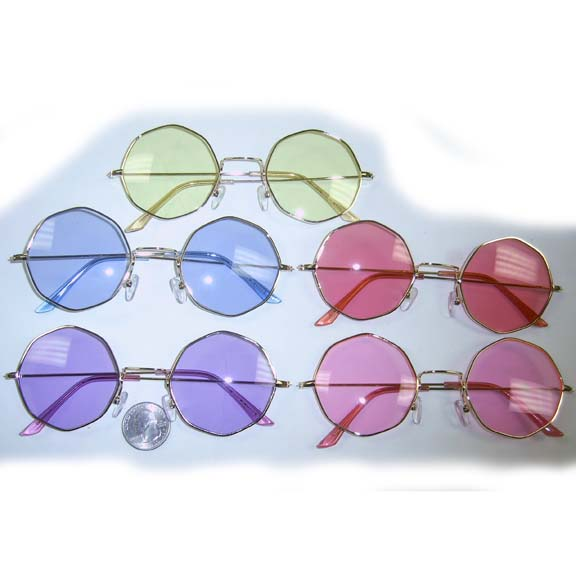 LENNNON STYLE SUNGLASSES, 5 COLORS, EDGY ROUNDNESS