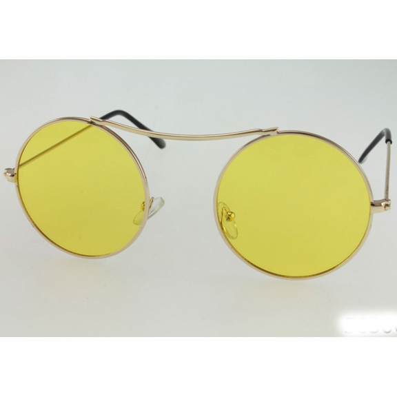 LARGE ROUND METAL FRAMES ASSORTED COLOR LENSES SUNGLASSSES
