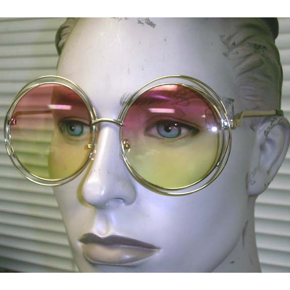 LARGE ROUND FRAMES, OCEAN LENS, EXTRA ROUND BANDS BY EDGE