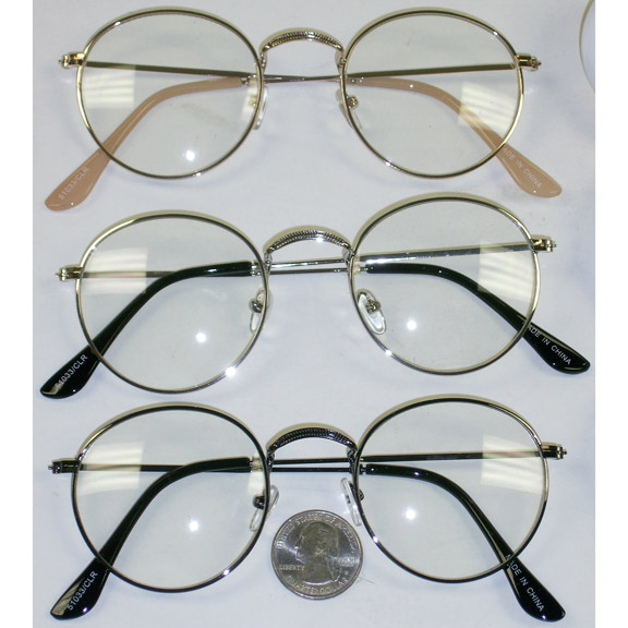 CLEAR LENS METAL FRAMES CLASSIC RETRO COOL LOOK GLASSES