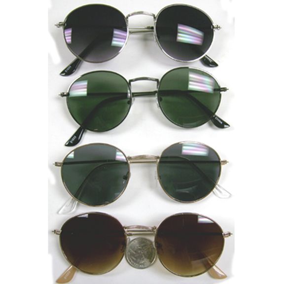 DARK LENS, ASSORTED COLOR METAL FRAMES SUNGLASSES