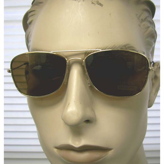 AVAITOR RECTANGLE SHAPE SUNGLASSES, ALL GOLD FRAMES, BROWN LENS