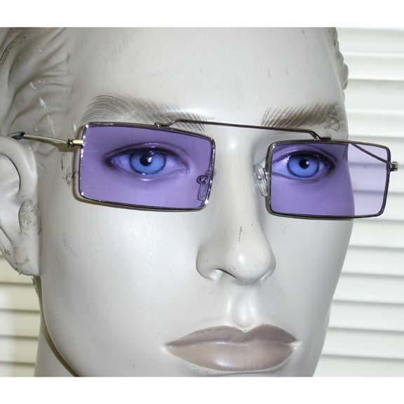 RECTANGLE SHAPE LENNON LOOK WITH TOP BRIDGE, COLOR LENSES