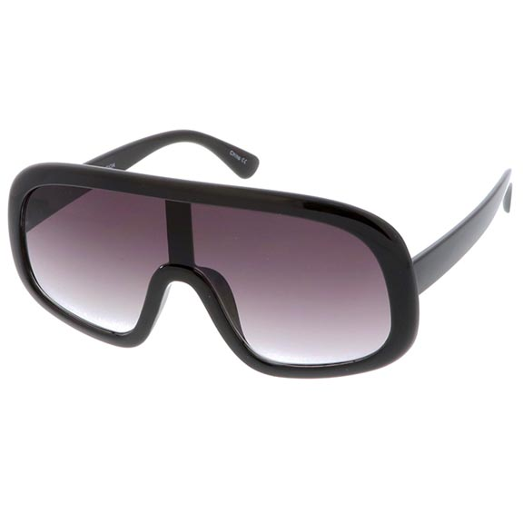 1 PIECE SHIELD LENS DARK LENS, FUNKY SUNGLASSES