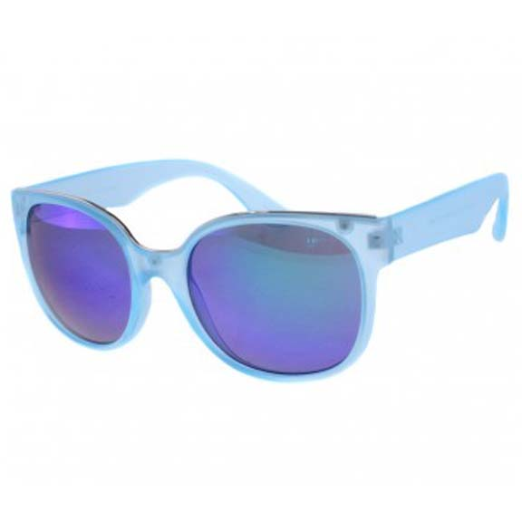 FROSTED COLOR FRAMES WITH REVO COLOR LENS SUNGLASSES
