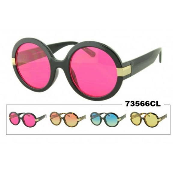 LARGE ROUND FUNKY FRAMES, COLOR LENSES