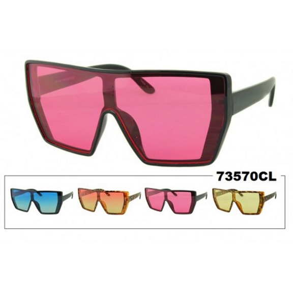 LARGE COLOR LENS SUNGLASSES