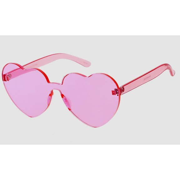 HEART SHAPE INJECTION MOLD SUNGLASSES IN ASSORTED COLORS