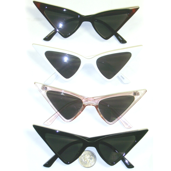 POINTY RETRO CAT SUNGLASSES ASORTED COLORS