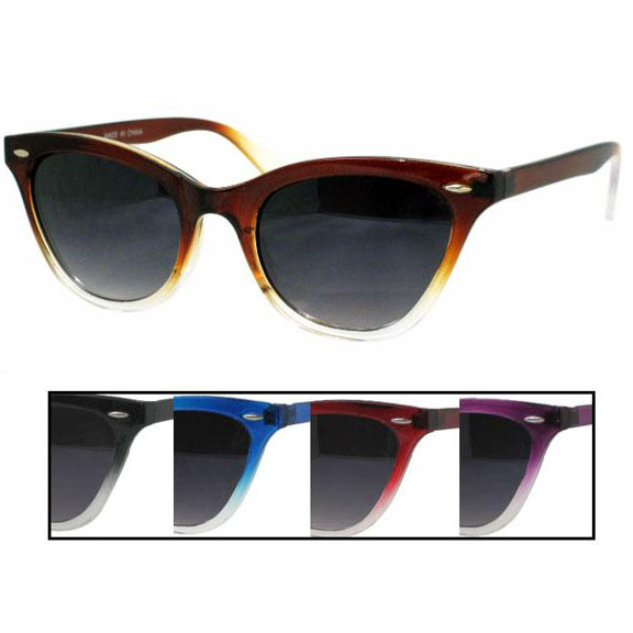 CAT EYE  TYPE/BLUES BROTHERS KINDA SUNGLASSES IN GREAT COLORS
