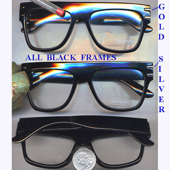 CLEAR LENS 80'S WIDE TOP FRAME GLASSES