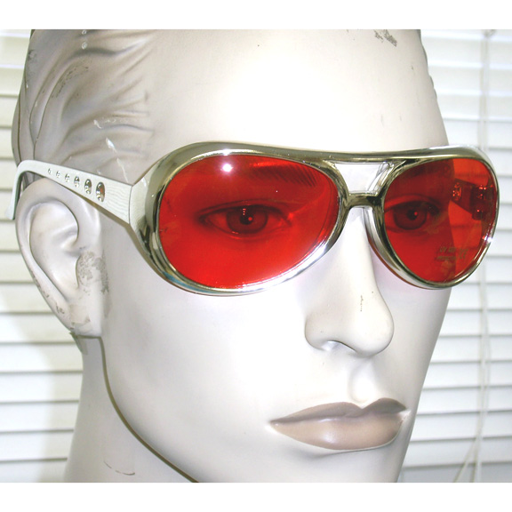 ELVIS STYLE FRAMES IN SILVER AND 4 COLOR LENSES