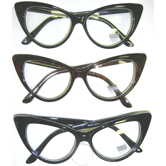 CLEAR LENS CAT EYE SHAPE FRAMES
