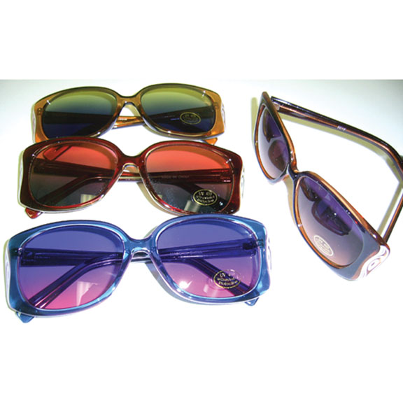COOL COLOR FRAMES, WITH OCEAN LENS AND DESIGN ON SIDE SUNGLASSES