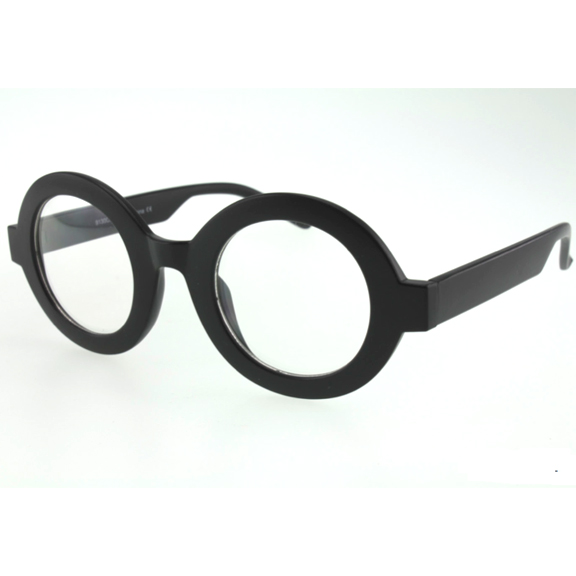 CLEAR LENS, THICK FRAMES ROUND LENS GLASSES