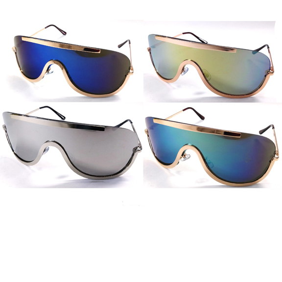 REVO LENS, 1PIECE LENS METAL BORDER SUNGLASSES