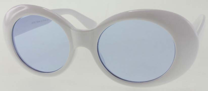 JACKIE O SUNGLASSES WHITE/BLACK FRAMES ASSORTED COLOR LENSES