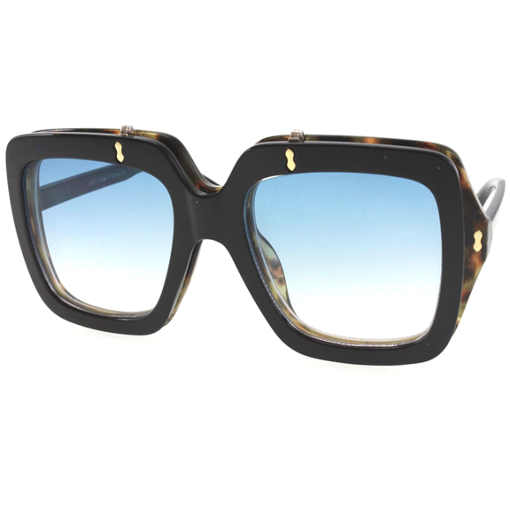 FLIP UP LARGE RECTANGLE SHAPE SUNGLASSES