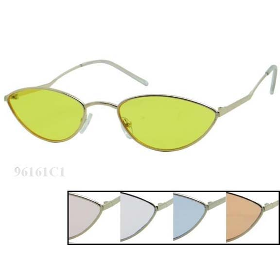 COOL, HIP METAL FRAMES, ASSORTED COLOR LENSES SUNGLASSES