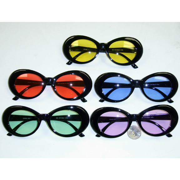 0950e19eeb01 BLACK FRAMES JACKIE O (CLOUT) STYLE WITH 5 COLOR LENSES