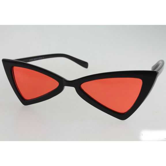 COLOR LENS FUNKY SHAPE SUNGLASSES