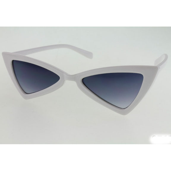FUNKY SHAPE SUNGLASSES WITH DARK LENS