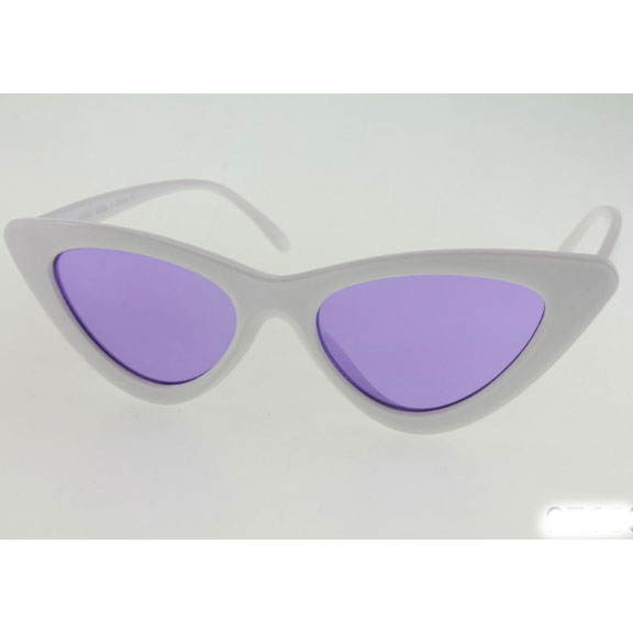 CAT SHAPE SUNGLASSES WITH COLOR LENSES