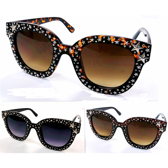 POPSTAR LOOKING SUNGLASSES, WITH STARS ON THE FRAMES