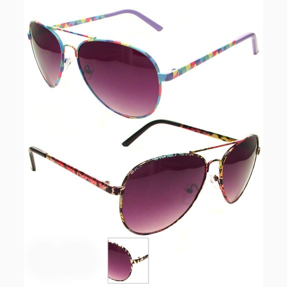 AVIATOR COOL MULTICOLOR FRAMES DARK LENS SUNGLASSES