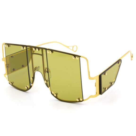 FUNKY GOLD METAL FRAMES SUNGLASSES