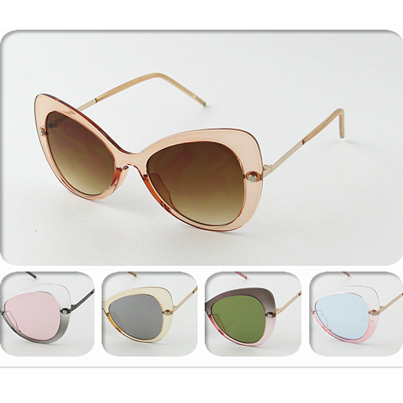 TRANSLUCENT COLORED FRAMES, COOL SHAPE, COOL LENSES SUNGLASSES