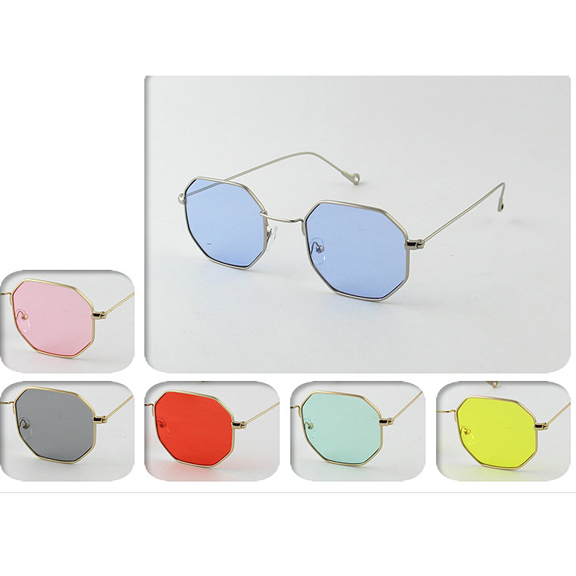 8 SIDED METAL FRAMES WITH ASSORTED COLORS LENSES