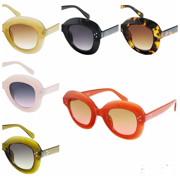 THICK FRAMES ASSORTED COLOR FUNKY SUNGLASSES