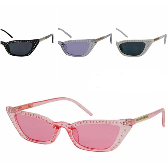SMALL FRAMES SMALL GEMS CAT SHAPE SUNGLASSES