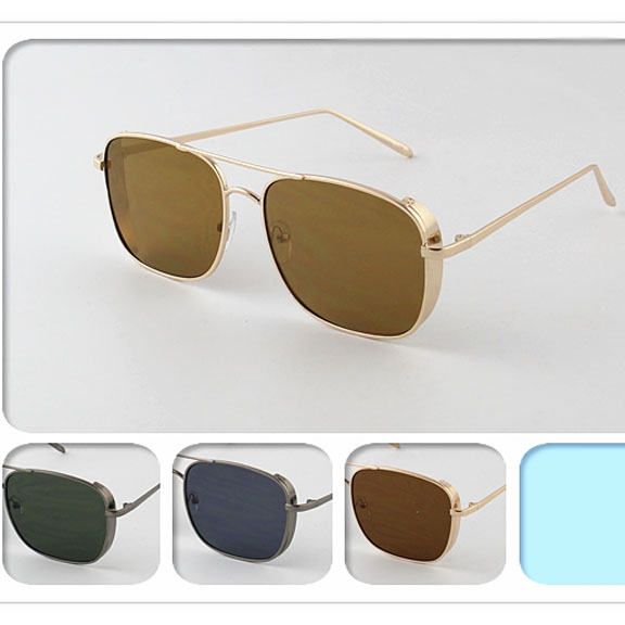 METAL FRAMES, RECTANGLE SHAPE COOL SUNGLASSES
