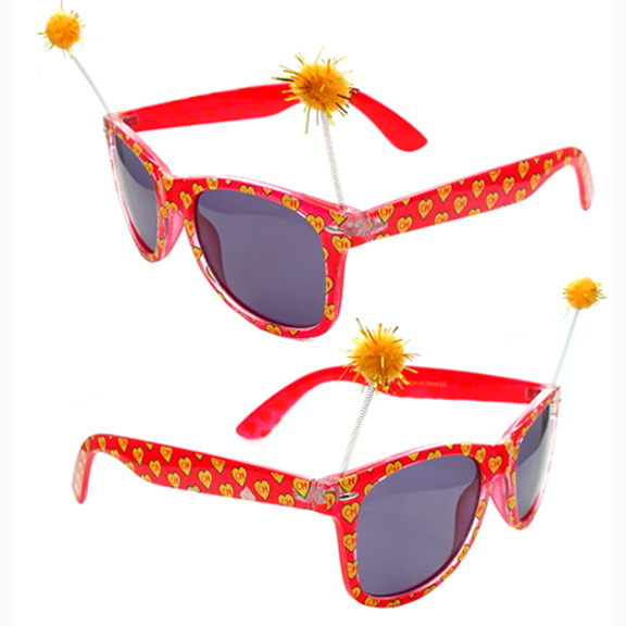 FUNKY STYLE SUNGLASSES WITH FUNKY POMPOM ON SPRING