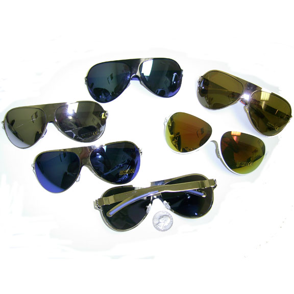 AVIATOR METAL ALL OVER, IRIDESCENT LENS SUNGLASSES